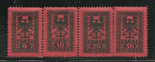 Albania Scott     J23  -  J26   Mint Hinged