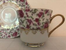 Made In Japan : Roses With Gold Trim Tea Cup Saucer Set