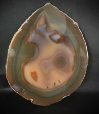 Superbe tranche d'agate minéraux polie (15cm) 142 gr