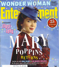 EMILY BLUNT MAY POPPINS RETURNS Entertainment Weekly Mag 6/16/17 WONDER WOMAN