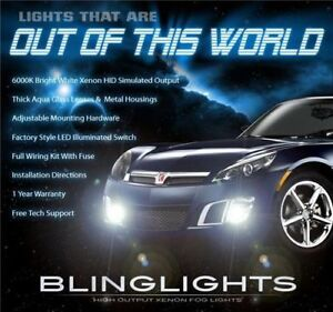 2007 2008 2009 Saturn Sky Xenon Foglamps Bumper Foglights Driving Fog Lamps Kit