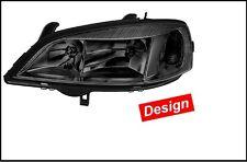1EG 007 640-351 Hella Hauptscheinwerfer Opel Astra Schwarz, links