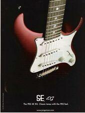 2004 PRINT AD PRS - Paul Reed Smith SE EG GUITARS