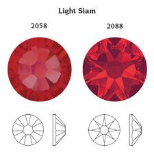 72 Swarovski Crystal Rhinestones Round Flat Back Gems for Nail Scrapbooking Ss9 72 Ss9 2.6mm Light Siam 227