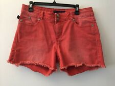 Rock & Republic Red Denim Shorts Size 12