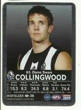 2009 AFL TEAMCOACH SILVER COLLINGWOOD DANE SWAN #63 CARD MAGIC MOMENT ?