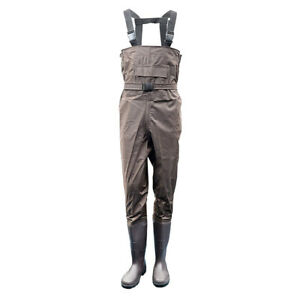 Height Pocket Belt Fishing Waders Overalls Waterproof Nylon PVC Breathable Chest