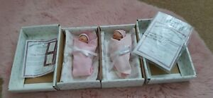 """ASHTON DRAKE tiny miracle & handful of contentment Baby Doll 5"""" Mint in Box"""