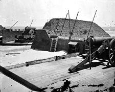 New 8x10 Civil War Photo: Guns of Fort Marshall on Sullivan's Island, S.C.
