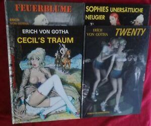 Comics für Erwachsene Erich  von +Gotha+ 4 x HC Rarität