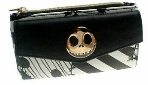 Nightmare Before Christmas Jack Skellington Black & White Zip Top Clutch Wallet
