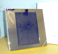 """Vera Wang Wedgwood LOVE KNOTS 5x7"""" Picture Frame Silverplate Knotted Bow New"""