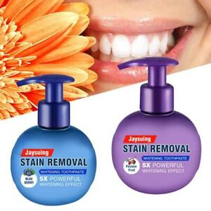Intensive Stain Removal Teeth Whitening Toothpaste Fight Bleeding Gums 220g  U K