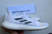 adidas SenseBOOST Go W White Grey Women Running Training Shoes Sneakers SZ8.5