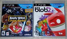 PS3 Game Lot - de Blob 2 (New) Angry Birds Star Wars (New) PS Move Compatible