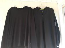 Champion Mens Black Nylon Running Jacket, & Shirt Reflective Quick Drying, SZ XL