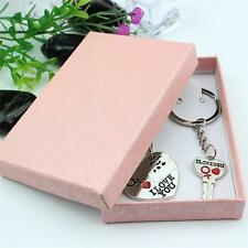 """""""I love you"""" Couple Key Chain Ring Keyring Keyfob For Lover Heart And Key TU~"""