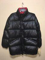 Michael Kors Women's Quilted Light Weight Down Puffer Jacket Coat Black Sz L NEW