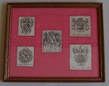 Ensemble de gravures représentants blasons et armoiries, XVIIIe siècle