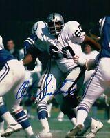 Otis Sistrunk Signed 8X10 Photo Autograph Raiders vs. Colts Blue Ink COA