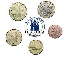 Andorra 1,85 Euro 2014 bfr. Mini Satz 5 Cent bis 1 Euro im Münzstreifen