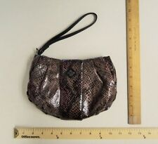 VERA WANG Women's Brown & Red Wine Bag Tote Ladie's WRISTLET Wallet Purse