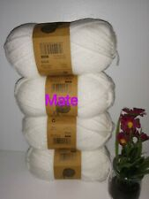 4 X White Sparkle - Knitting Essentials - Double Knitting Wool 50g