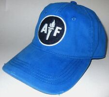 MENS ABERCROMBIE & FITCH  ADJUSTABLE BLUE DISTRESSED HAT CAP ONE SIZE