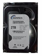 """2TB 3.5"""" SATA 6.0Gb/s Sonnics Internal Hard drive 7200RPM 64MB Cache Brand new"""
