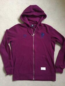 Mens Medium Umbro England Rugby Full Zip Hoodie Purple