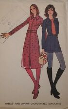 Mc-3018 Vintage 1970s Coordinated Separates Sewing Pattern McCall's Size 7 Rare