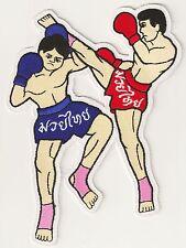 Patch écusson patche boxe Muay Thai grande taille grand dorsal