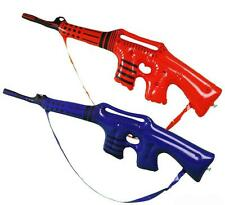 12 ASST COLORED INFLATABLE TOY MACHINE GUN play 34 in blow up inflate boy rifle