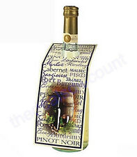 Set of 48 Wine Bottle Gift Tags, Labels, with To & From, Perfect for Christmas!