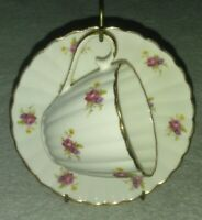 Vintage Jason Tea Cup & Saucer Floral  Bone China  Made In England Pink, Purple