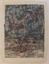 Lithographie pour la revue Derrière Le Miroir, Jean-Paul Riopelle, 1970