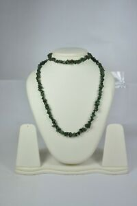 """Pretty Certified Natural Emerald 34 """"Inches Uncut / Tumbled Beads Necklace"""