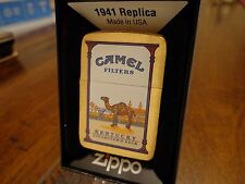KENTUCKY CAMEL STATE COLLECTORS PACK BRUSH BRASS ZIPPO LIGHTER 2010