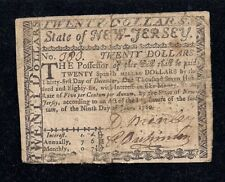 $20 New Jersey, June 9, 1780, Signed by David Brearly, Constitution Signer, FR #