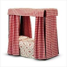American Girl FELICITY'S BED & BEDDING RETIRED Canopy Red Linen NEW in BOX
