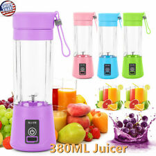 380ML NEW Portable Blender USB Rechargeable Fruit Juicer Cup Mixer Jet Squeezers
