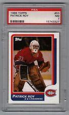 1986-87 Topps #53 Patrick Roy Canadiens Rookie NRMT PSA 7
