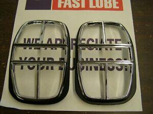 NOS OEM Ford 1968 Galaxie 500 XL Tail Light Lamp Bezels Trim Chrome Pair LTD