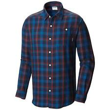 NEW Columbia Men's Cornell Woods Flannel LS Shirt Navy Multicolor Size 4XL