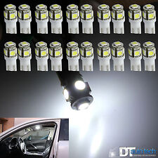 20X 6000K Xenon White T10 921 Interior/License Plate SMD Light Bulbs 5-LED