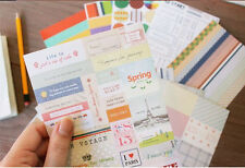 12 sheets vintage multi-functional Sticky notes  notebook sealing diary stickers
