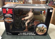 GI Joe Classic Collection WWII US Army Courier Figure & WLA45 Harley Davidson