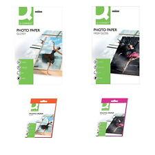 Ink-Jet Fotopapier 180g 260g; 20 Blatt A4 od. 25 Blatt 10x15 hochglänzend Clossy