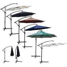 WestWood Garden Parasol Sun Shade Patio Banana Cantilever Hanging Umbrella 3m