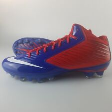 Nike Vapor Speed TD 3/4 Mid Football Cleats Men's Size 13.5 Red White Blue